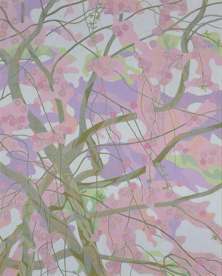 伊藤髟耳 「春・ひとときの出会」 平成22年(2010) 足立美術館蔵