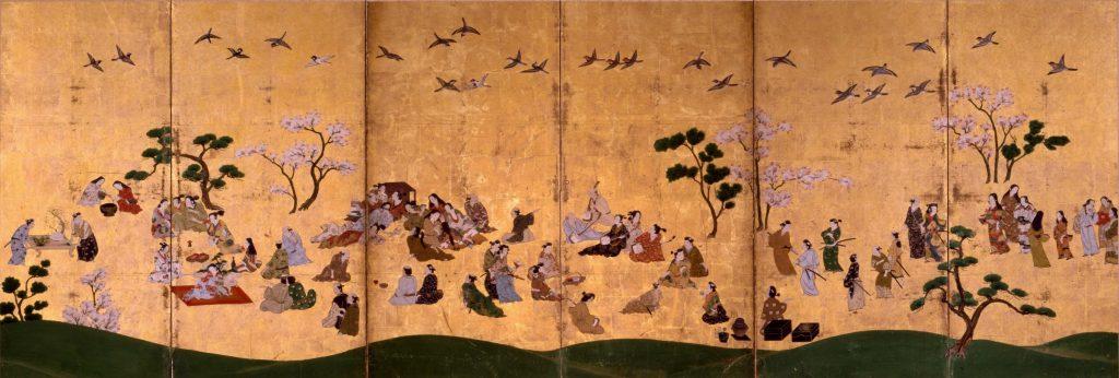 「遊楽図屏風(左)」江戸時代前期(後期展示)