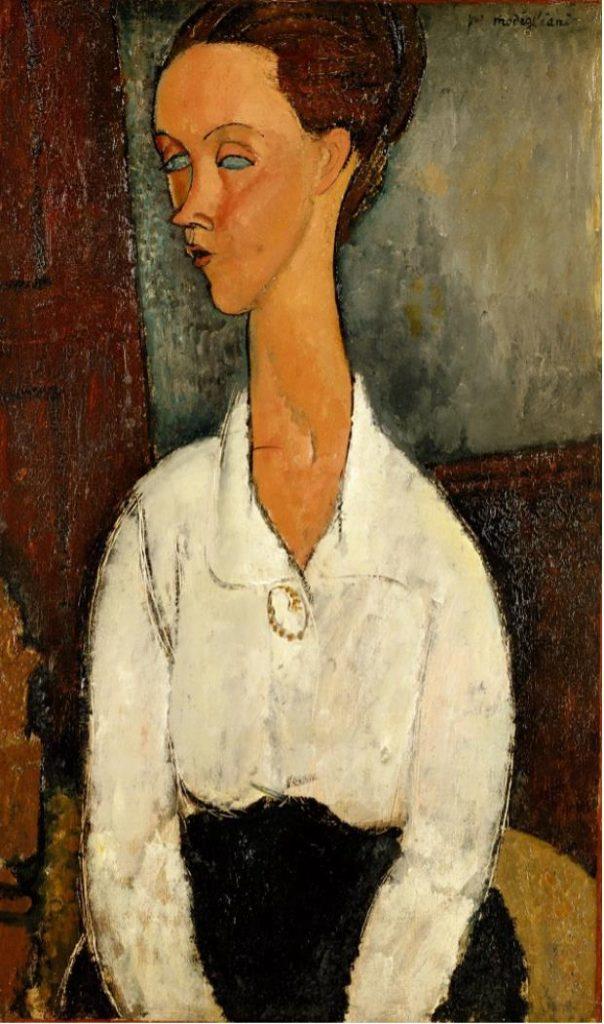 《ルニア・チェホフスカの肖像》1917年 ポーラ美術館蔵