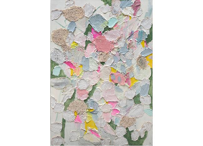 「Feé de Fleurs」 65.5×45.5cm  ミクストメディア、キャンバス 2018年 税込605,000円