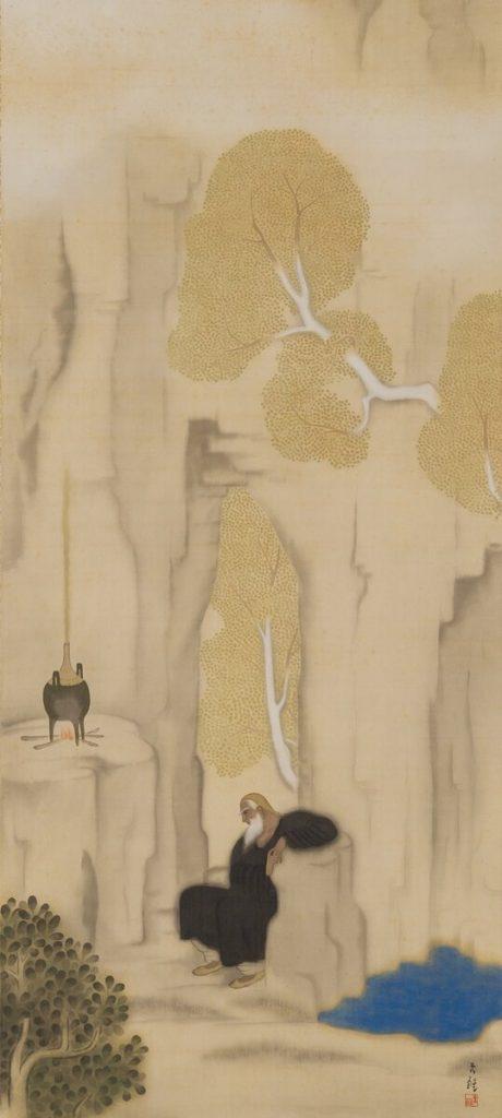 小杉未醒(放菴) 《煉丹》 1917年 小杉放菴記念日光美術館蔵