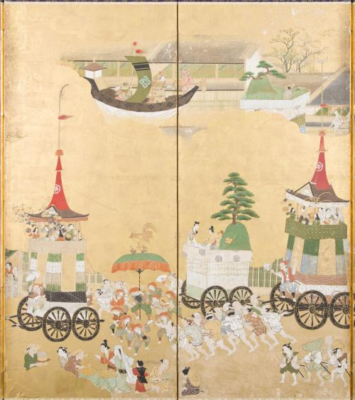 「祭礼屏風のうち祇園祭図」 江戸時代