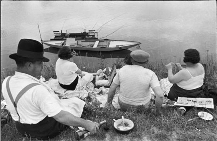 マルヌ川の土手、フランス 1938年