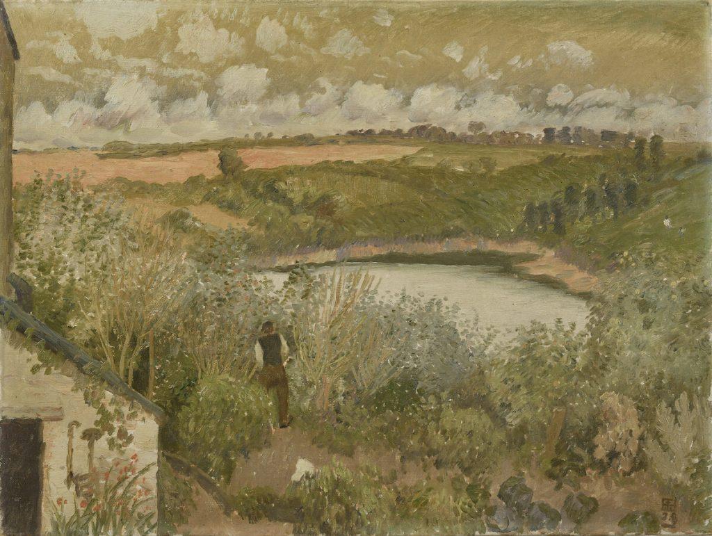 小杉未醒(放菴) 《入江の一角(ブルターニュ風景)》 1913年 小杉放菴記念日光美術館蔵