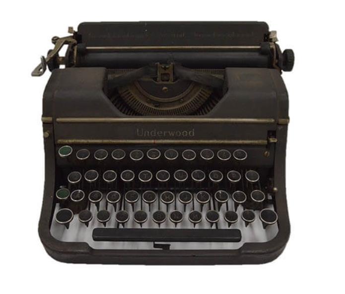 愛用のタイプライター