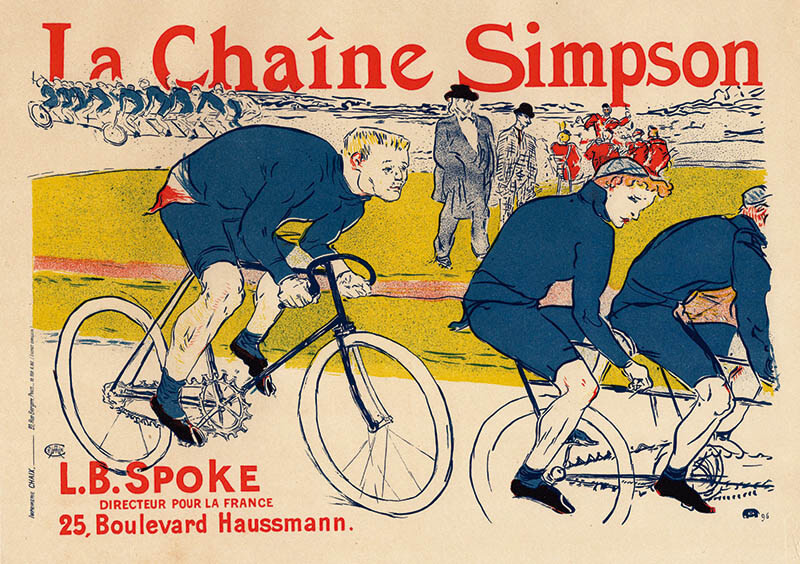 アンリ・ド・トゥールーズ=ロートレック「シンプソンのチェーン」1900年 リボリ・アンティークス蔵