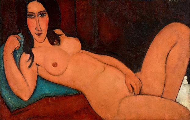 《髪をほどいた横たわる裸婦》1917年 大阪中之島美術館蔵