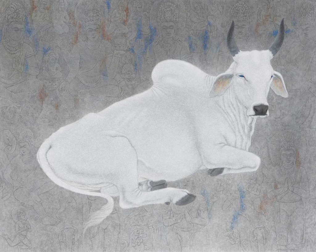 番場三雄 「オウランガバードの牛」 平成27年(2015) 足立美術館蔵