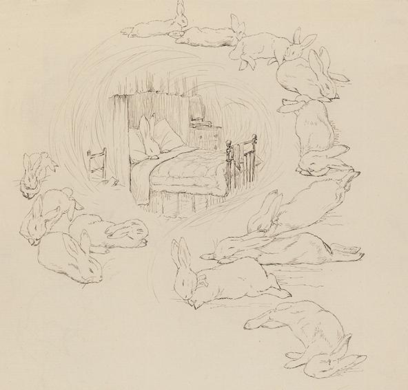 《ピーターが見ている夢》1895年 ヴィクトリア&アルバート博物館(リンダーコレクションからの寄贈)