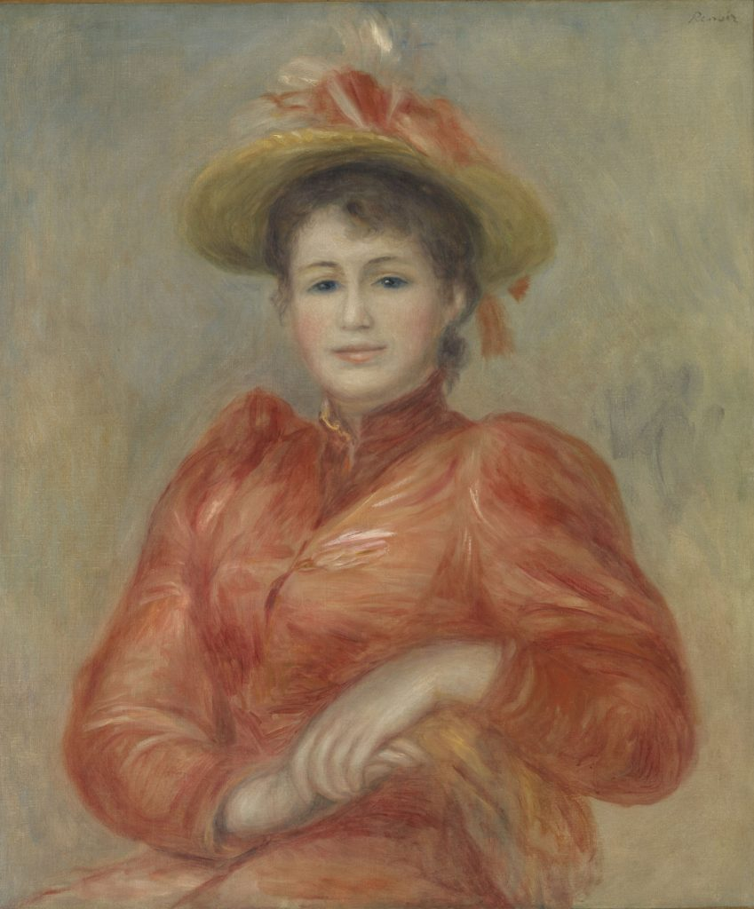 ピエール=オーギュスト・ルノワール 《赤い服の女》 1892年頃