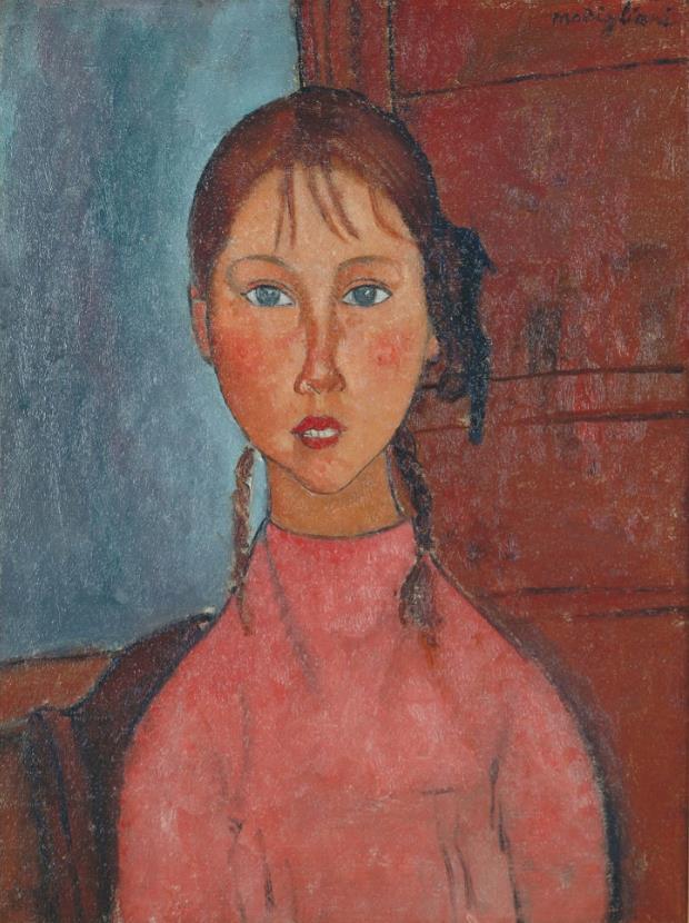 《おさげ髪の少女》1918年頃 名古屋市美術館蔵