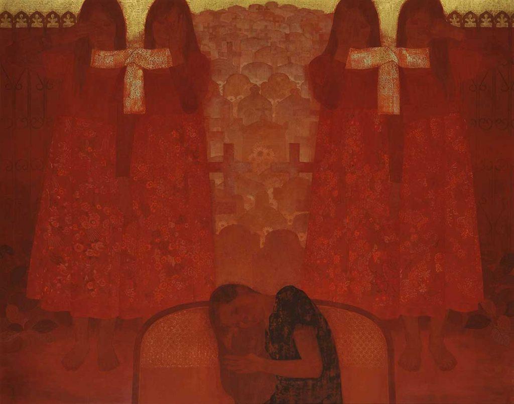 村岡貴美男 「煉獄の門」 平成21年(2009) 足立美術館蔵