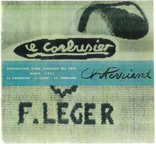 「ル・コルビュジエ、レジェ、ペリアン3人展」図録(1955年) 高島屋史料館所蔵