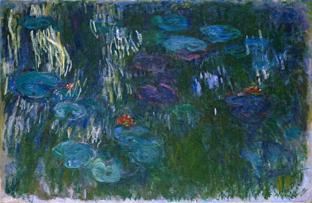 《睡蓮》 クロード・モネ 1916‒19年 油彩/カンヴァス 130.2×200.7cm Gift of Louise Reinhardt Smith, 1983 / 1983.532 ニューヨーク、メトロポリタン美術館
