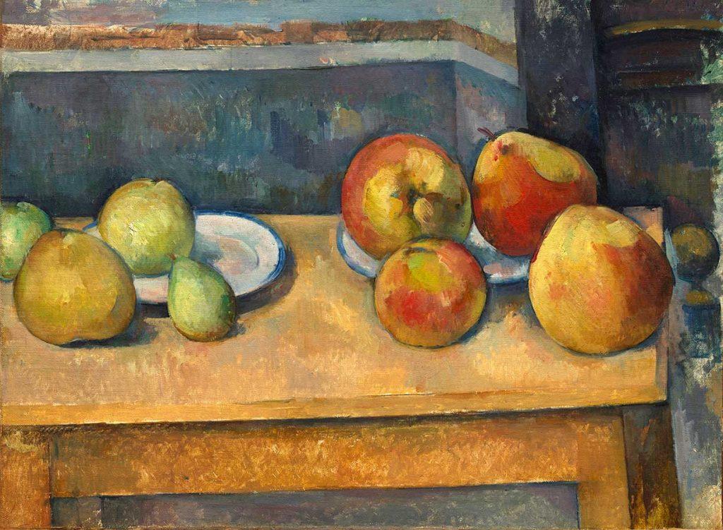 《リンゴと洋ナシのある静物》 ポール・セザンヌ 1891-92年頃 油彩/カンヴァス 44.8×58.7cm Bequest of Stephen C. Clark, 1960 / 61.101.3 ニューヨーク、メトロポリタン美術館