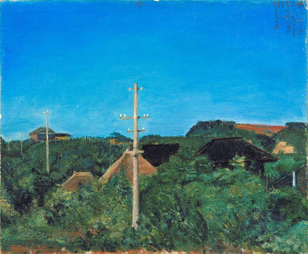岸田劉生「窓外夏景」 1921年 茨城県近代美術館