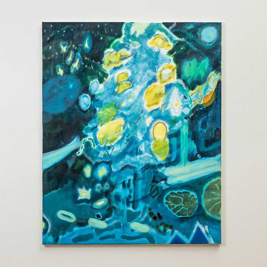 柏原由佳「Lemon-Tree」2020年-アクリル、油彩、キャンバス