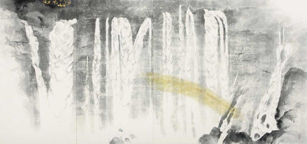 松尾敏男 「白糸の滝」 平成24年(2012) 足立美術館蔵