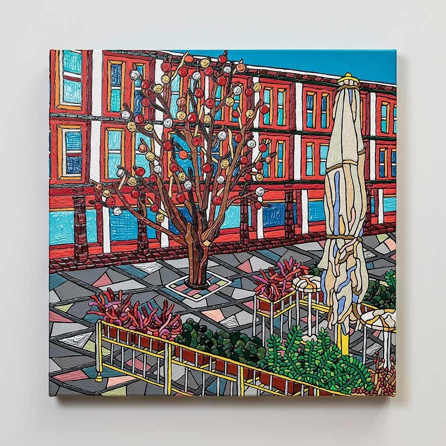 Ryu-Itadani「Walter-Benjamin-Platz」2020年-Acrylic-on-Canvas
