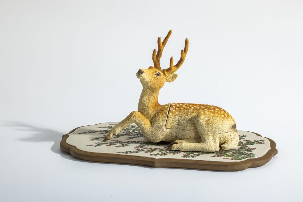 竹内瑠璃≪鹿と萩の小箱「初萩」≫2020年
