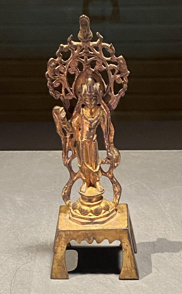 菩薩立像-銅造鍍金-中国の仏像-東洋館-東京国立博物館-東京