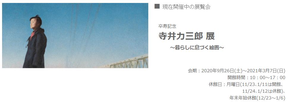「卒寿記念 寺井力三郎展 ~暮らしに息づく絵画~」サトエ記念21世紀美術館