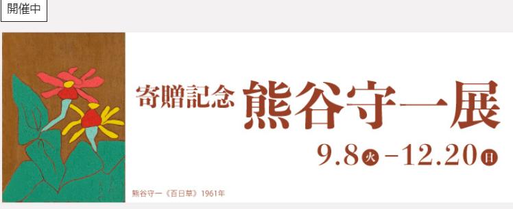 企画展「寄贈記念 熊谷守一展」岐阜県美術館