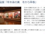 収蔵品展「草木染の美・冬」高崎市染料植物園