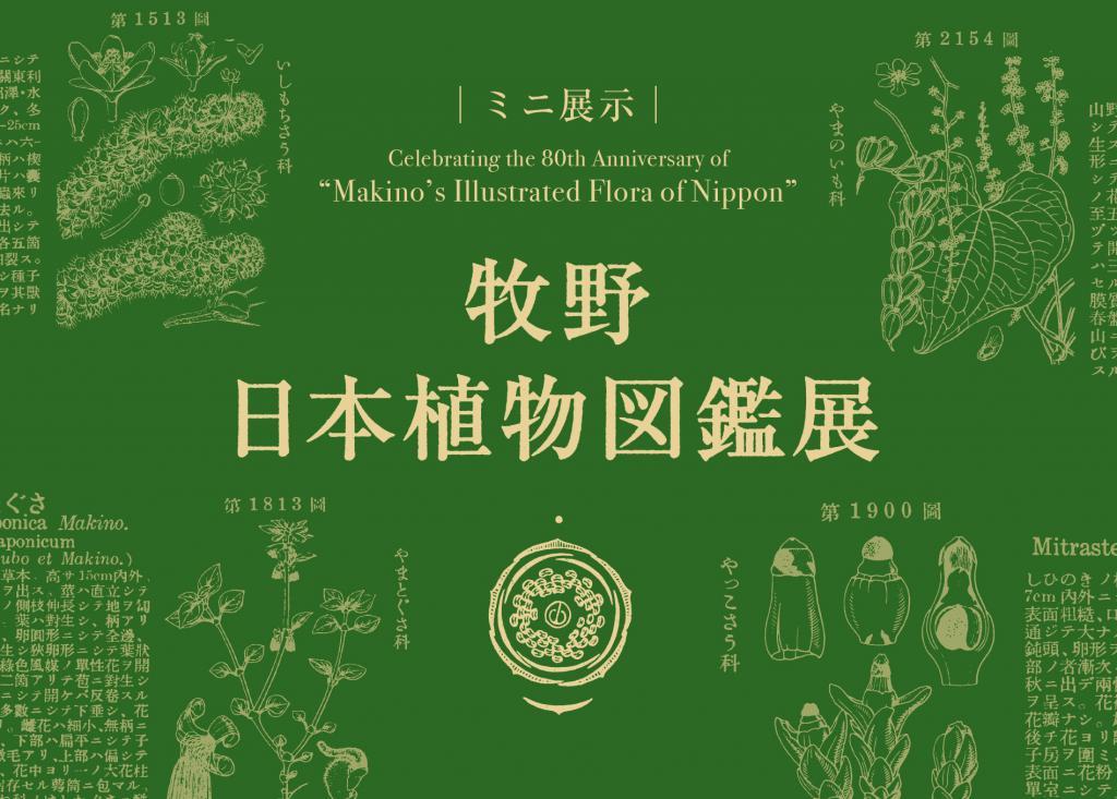 ミニ展示「牧野日本植物図鑑展」高知県立牧野植物園