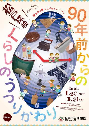 「学習資料展・こどもミュージアム 90年前からのくらしのうつりかわり」松戸市立博物館