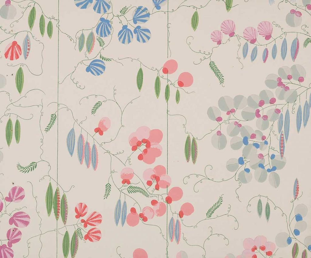 上野リチ・リックス《壁紙 : そらまめ》1928年以前、京都国 立近代美術館蔵