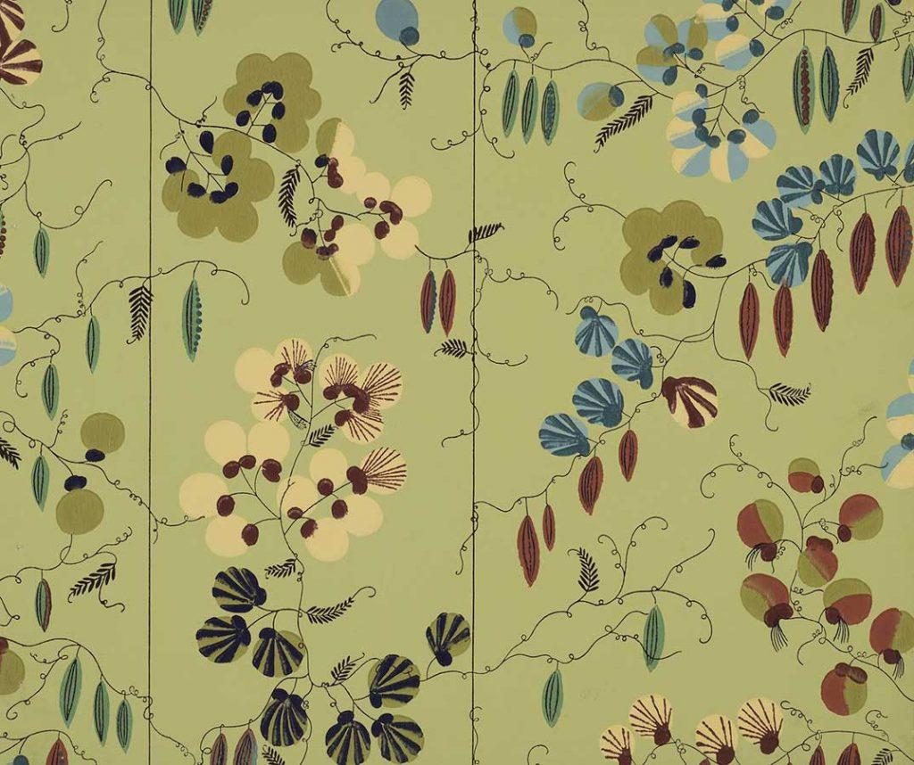 上野リチ・リックス《壁紙 : そらまめ》1928年以前、京都国立近代美術館蔵