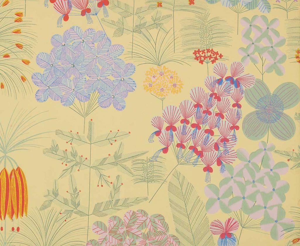 上野リチ・リックス《壁紙 : 花園》1928年以前、京都国立近代美術館蔵