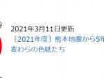 「熊本地震から5年・震災復興祈念 集う!麦わらの色紙たち」熊本県立美術館