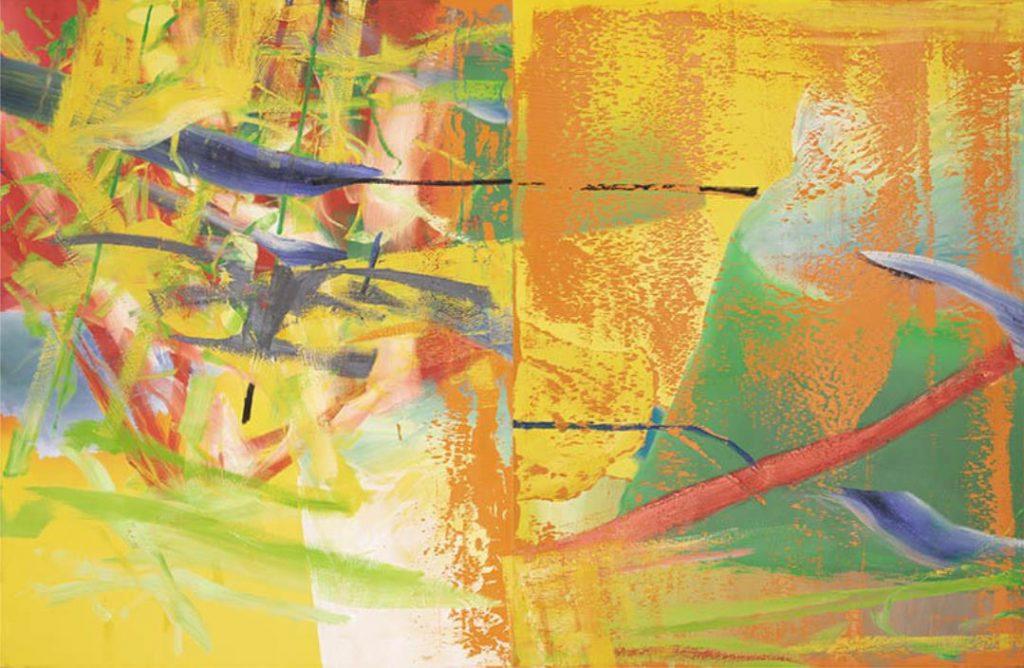 ゲルハルト・リヒター《オランジェリー》 1982年 油彩、カンヴァス 富山県美術館 ©︎ Gerhard Richter 2021 (08022021)