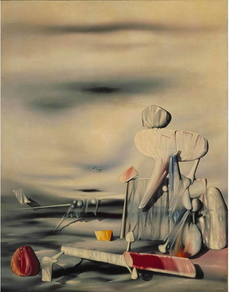 イヴ・タンギー《風のアルファベット》 1944年 油彩、カンヴァス 横浜美術館