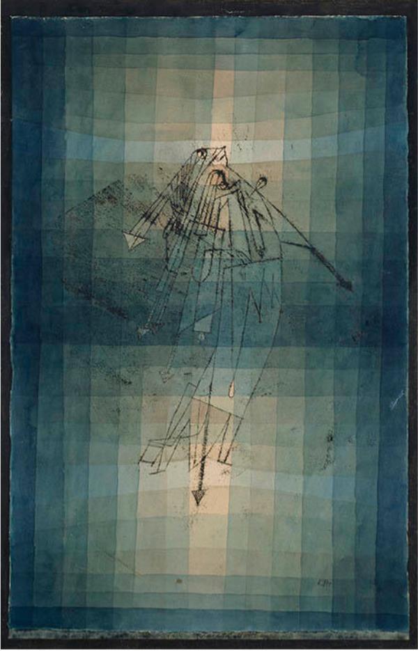 パウル・クレー《蛾の踊り》 1923年 油彩転写・鉛筆・水彩、紙 愛知県美術館
