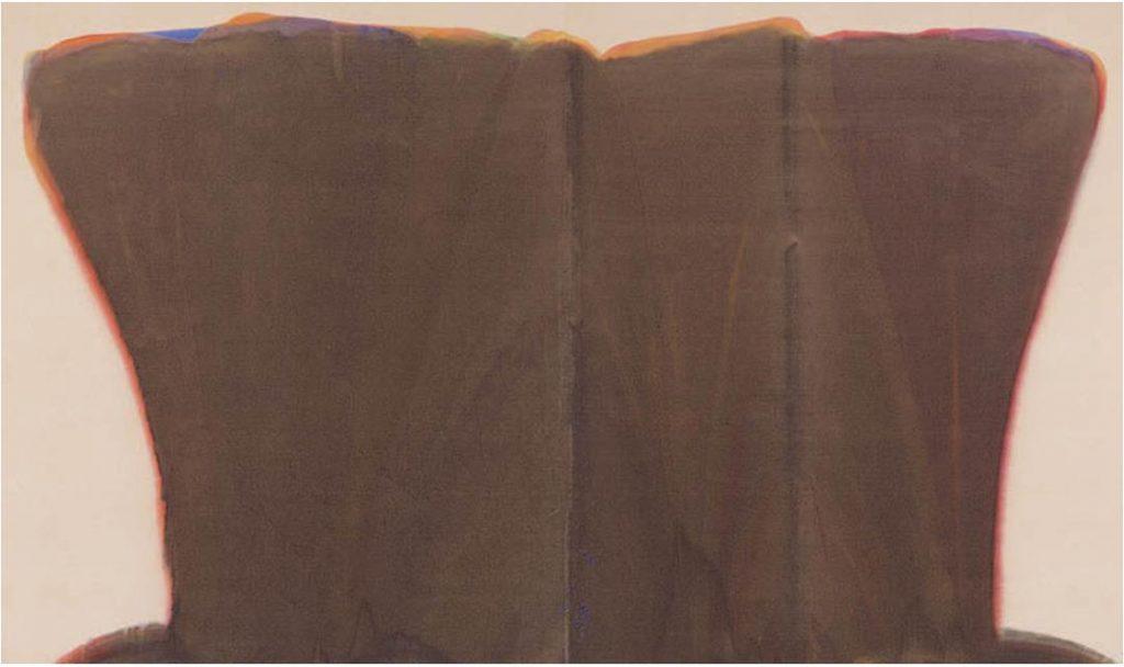 モーリス・ルイス《ダレット・シン》 1958年 アクリル絵具、カンヴァス 富山県美術館