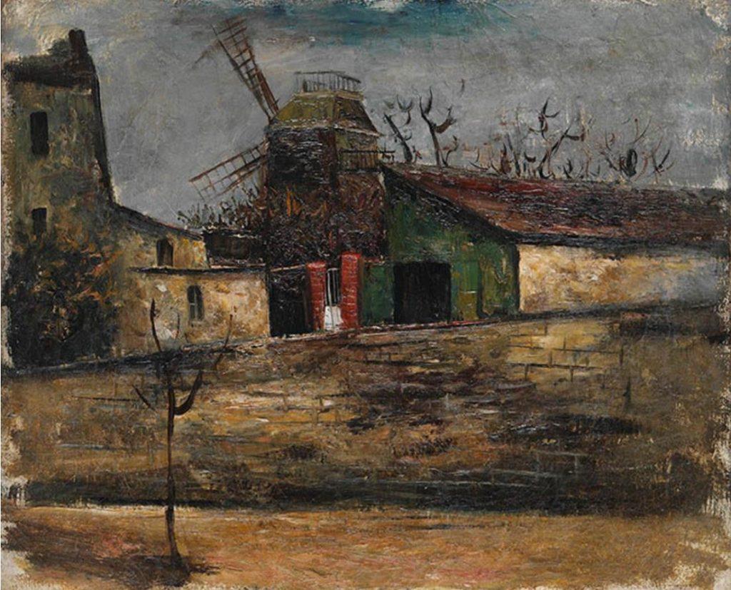横手貞美《ムーラン・ド・ラ・ギャレット》1930年頃 長崎県美術館
