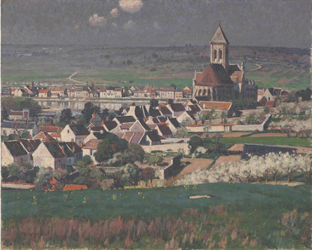 山本森之助《フランスの田舎》1922-23年 長崎県美術館