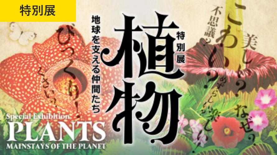 特別展「植物 地球を支える仲間たち」国立科学博物館