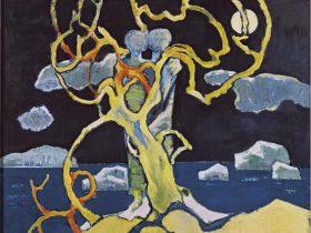 国松 登《氷人・冬樹》 1974(昭和49)年 北海道立近代美術館蔵