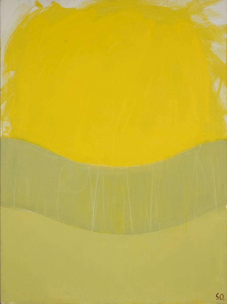 大沢昌助《黄色の構図》1992年