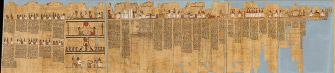 タレメチュエンバステトの「死者の書 縦36.3cm × 長さ413.4cm<br>プトレマイオス時代初期、前332~前246年頃 © SMB / A. Paasch
