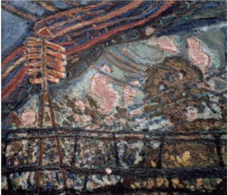 朝井閑右衛門 《電線風景 (トンネル)》 1952年頃 横須賀美術館蔵