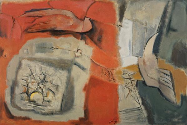 「花開く」 1990年 油彩・キャンバス