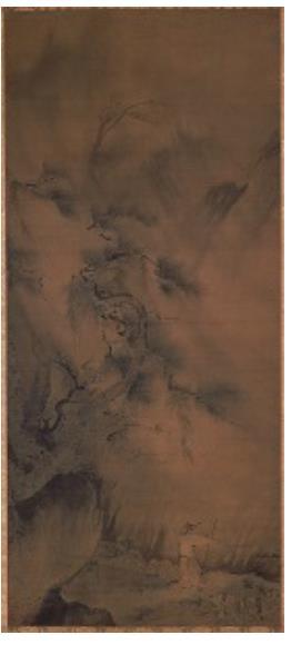 国宝 夏景山水図 南宋 12~13世紀 久遠寺(山梨県身延町)