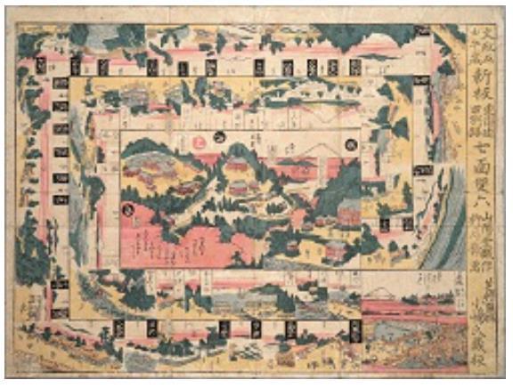 七面双六 文政5年(1822) 身延山大学