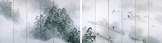 横山大観「朝霧」 昭和9年(1934)茨城県近代美術館蔵