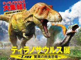 「ティラノサウルス展 ~T. rex 驚異の肉食恐竜~」大阪南港ATCホール